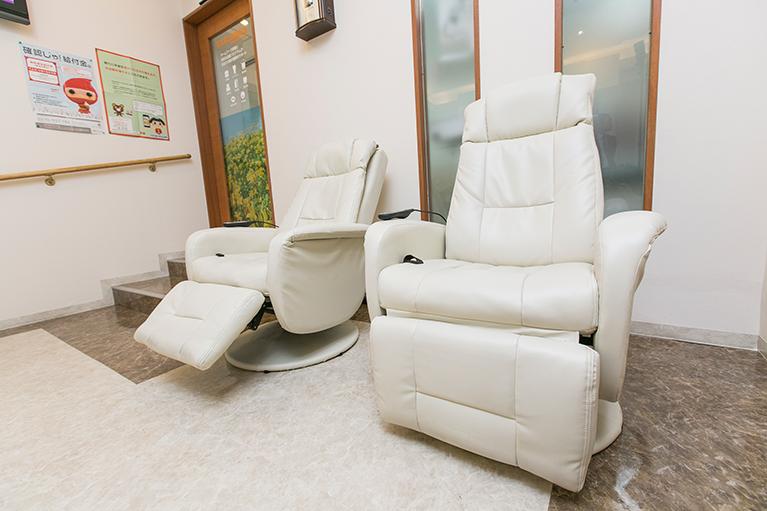 リラックス空間の待合室